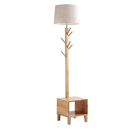 HLF- Lámpara de pie de Madera Maciza, lámpara de Mesa ...