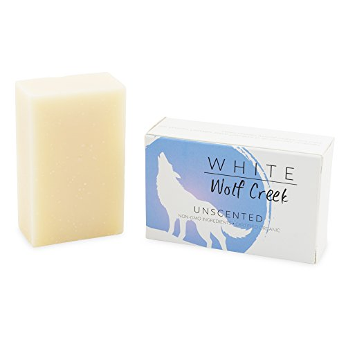 White Wolf Creek All Natural Organic Soap Skin Bar Soap for Hands Face and Body, Set of Two Bars (Unscented)