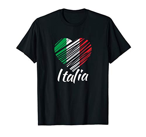 Proud Italian - Italia T-Shirt - Italian Heart - Love Italy