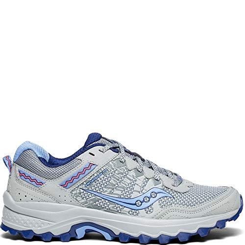 Saucony Women's Excursion TR12 Sneaker, Grey/Blue, 11 M US