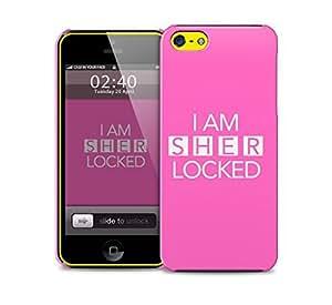 sherlocked pink iPhone 5c protective phone case
