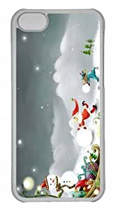 Customized iphone 5C PC Transparent Case - Winter Wonderland 5 Personalized Cover