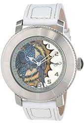 Ed Hardy Men's AS-WH Astor Quartz Analog White Strap Watch