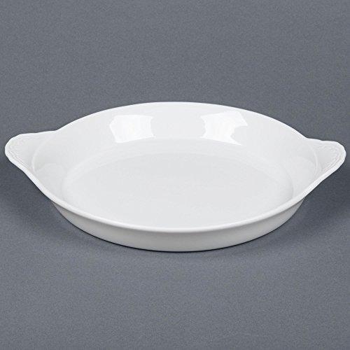 Rarebit China - TableTop King FHD-14 White China Shirred Egg Dish 3.3 Qt. - 6/Case