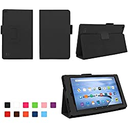 Case for All-New Fire 7 2017 - Premium Folio Case for All-New Fire 7 Tablet with Alexa 7th Generation - (Black)