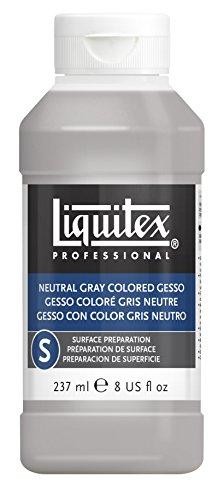 Liquitex Professional Neutral Gray Gesso Surface Prep Medium, 8-oz
