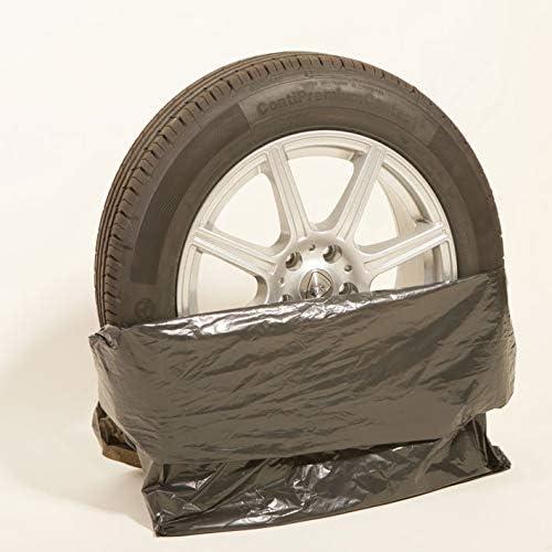 500 Reifentüten Schwarz 40µ 100 X 100 Cm Bis 22 Zoll Xxl Reifensack Reifentaschen Extrastark Reifenschutz Kein Schrott Auto