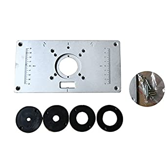 Kinwat 700c aluminum router table insert plate 4pcs insert rings kinwat 700c aluminum router table insert plate 4pcs insert rings wood router table for woodworking benches greentooth Image collections
