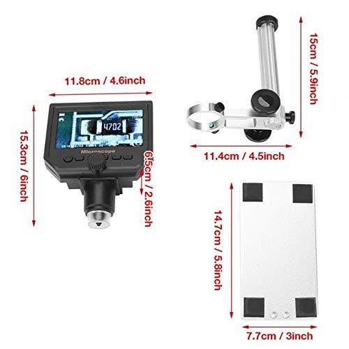 (Dalab Portable 4.3 G600 1-600X Magnifier 1080P LCD Digital Microscope 100-250V - (Color: AU Plug))