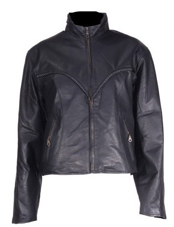 08ceae2bc Amazon.com: Leather Jackets, Womens Braided Leather Jacket (Size 3XL ...