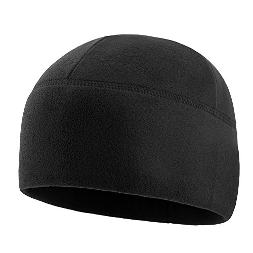 M-Tac Watch Cap Fleece 260 Mens Winter Hat Military Tactical Skull Beanie (Medium, Black)