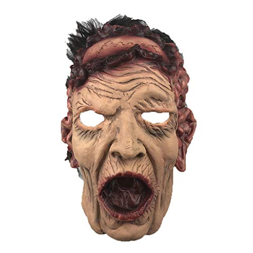 Walking Dead Resident Evil Head Cover Halloween Mask, Horror Haunted House Bar Dance Cos]()