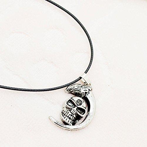 Jaywine2 Trendy Moon Skull Pendant Necklace Eagle Head Necklaces Fashion Jewelry (Heart Eagle Head)