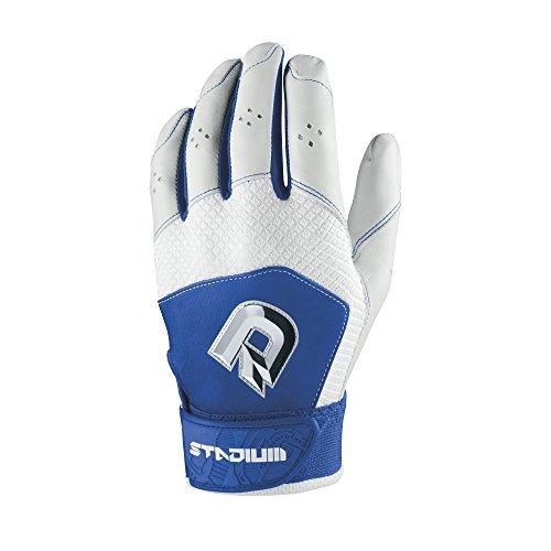 DeMarini Men's Stadium II Batting Gloves, Royal,