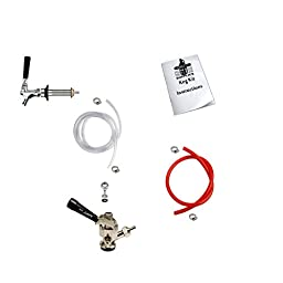 HomeBrewStuff Add A Tap Draft Beer Kegerator Conversion Kit 1CH-D