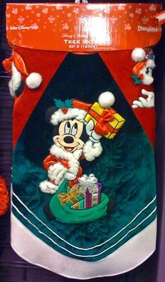 Disney Park Mickey Minnie Mouse Character Christmas Holiday Tree Skirt NEW