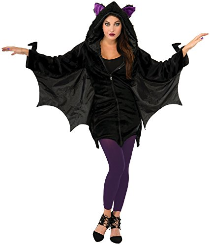 Forum Novelties Women's Hoodie Bat Costume, Black, Standard for $<!--$27.99-->