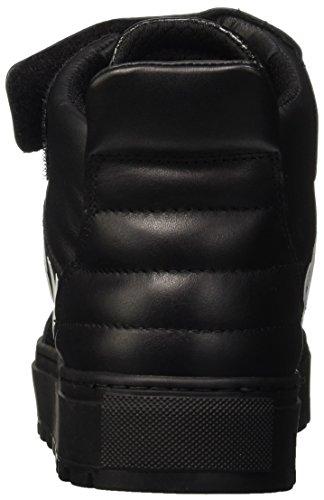 Bikkembergs Track-er 765 Mid Shoe M Leather/Fabric, Zapatillas Altas para Hombre Nero (Black/Red)