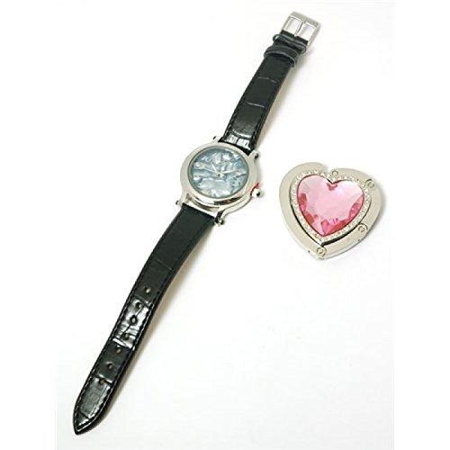 Paris Hilton Leather Strap Ladies Fashion Watch & Heart Handbag Holder HWX004A