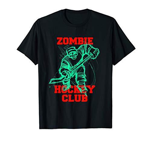Zombie Ice Hockey Club Halloween Trick or Treat Costume Gift T-Shirt