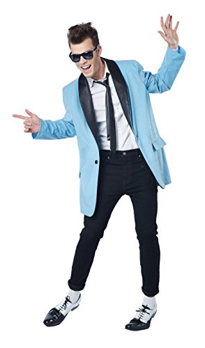 California Costumes Men's 50's Teen Idol, Blue/Black, ()