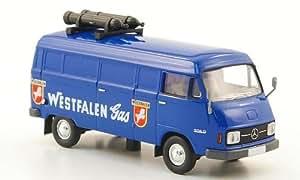 Mercedes L 206 D vagón caja, Westfalen Gas , Modelo de Auto, modello completo, Brekina 1:87
