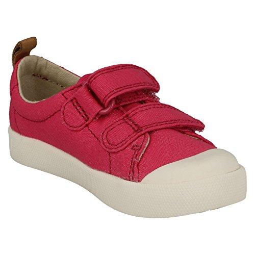 Clarks Unisex-Kinder Halcy Hati Sneaker Pink (Pink Canvas)