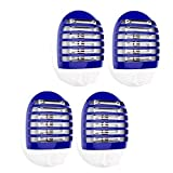 Maxtry 4 Pack Plug in Electronic Insect Killer Mosquito Lure Lamp Pest Control Bug Zapper Eliminates Flying Pests Gnat Trap Indoor with Night Light