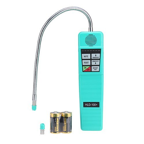 MYPIN Pro Advanced Portable AC Freon Halogen Refrigerant Gas Leakage Leak Detector Tester with High Sensitivity, Hvac Tool 7 Level Alarm Health and Safety Assistant, R410A R134A R134a R12 R22 R600a CFC HFC Hvac Tool (Ac Gas Leak Detector)