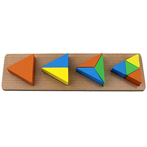 Price comparison product image AMOFINY Baby Toys Building Blocks Educational Toys Geometric Shapes Corresponding to Puzzles Wooden Children's Geometric Figure Puzzle Jigsaw Educational Toy for Kids