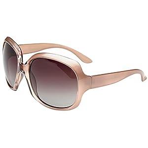 MOTINE Oversized Women's Polarized Sunglasses Fashion Sunglasses UV400 (Champagne)