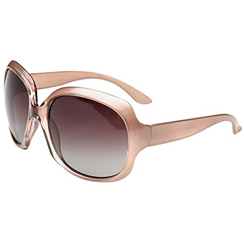 MOTINE Oversized Women's Polarized Sunglasses Fashion Sunglasses UV400 (Champagne) (Champagne Delivery Usa)