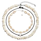 XOCARTIGE Puka Shell Choker Necklace Sea Shell Necklace Anklets Set Summer Beach Jewelry: more info