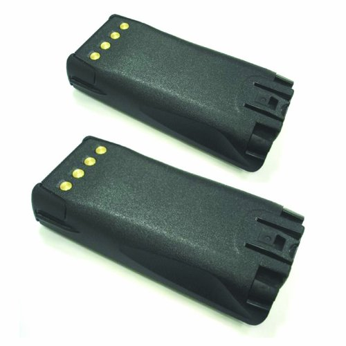 Hitech - 2 Pack of TPA-BA-203 Replacement Batteries for Tait TP9100, TP9135, TP9140, TP9155, and TP9160 2-Way Radios (Ni-MH, 2700mAh)