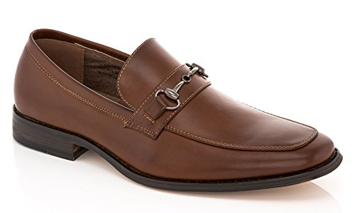 4100d79dd12 Franco Vanucci Mens Faux Leather Slip On Dress Shoe Loafers With Horsebit  Detail 60%OFF