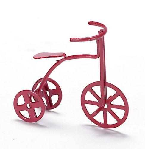 Dollhouse Miniature Childrens Red Tricycle ()