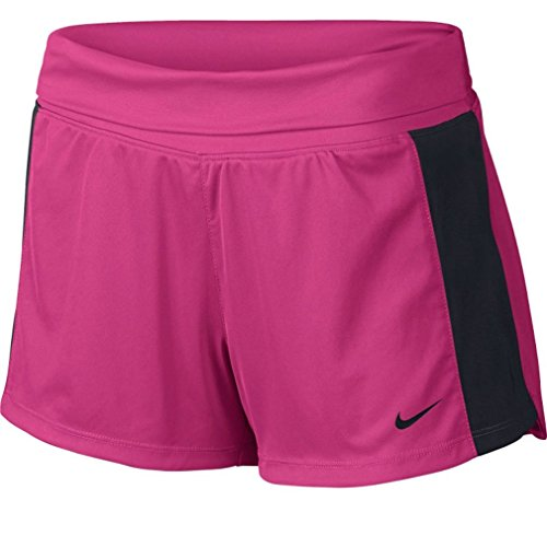 Nike Dri-Fit de la mujer Knit Pantalones de entrenamiento Rosado vivid/Negro