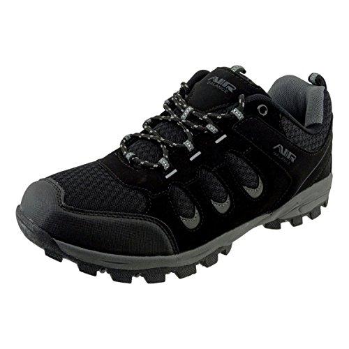 Air Balance Mens Classic Scarpe Da Trekking Con Scarponi Da Trekking Sneaker Nero Argento