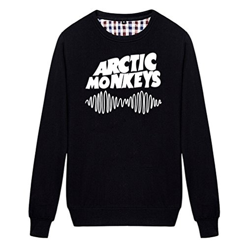 - Chimpanzee Arctic Monkeys Band Soundwave Logo Sweatshirt (Black Medium)