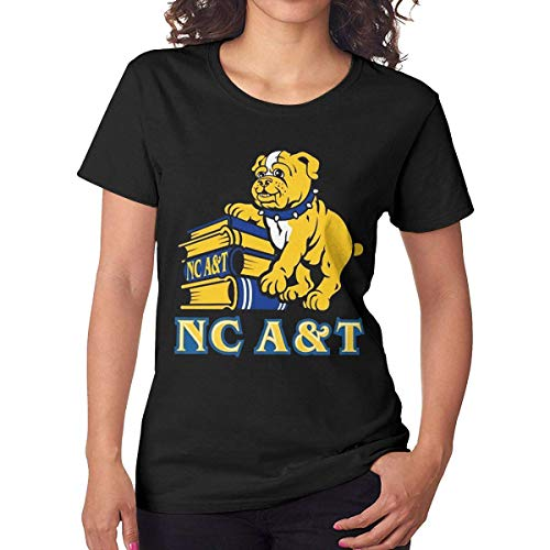 - Onetwoonethree Womens Particular NC North Carolina A&T State University Aggies Fashion Jogging Black T-Shirt 29 Short Sleeve