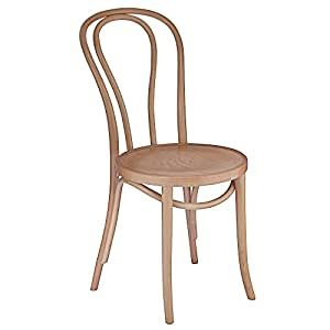 European Bentwood Wood Dining Chairs Natural 2 Pack