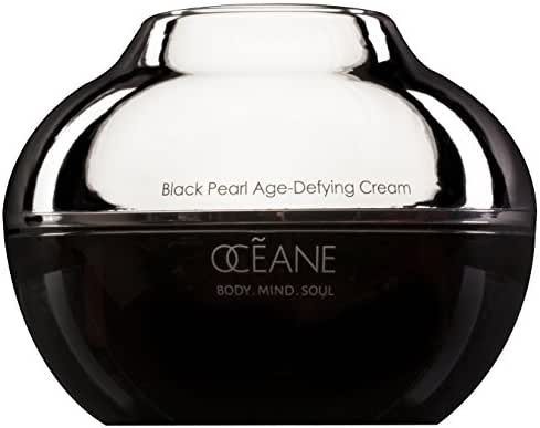 OCEANE Beauty Black Pearl Anti-Aging Cream, Age-Defying Cream w Nourishing Blend of Genuine Pearl Powder and Marine Plant Stem Cells, Strong Anti Wrinkle Product, OC21