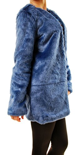 For Love & Lemons Women's Wanderlust Faux Fur Coat Blue Size L by For Love & Lemons (Image #1)