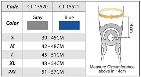 BODYVINE Unisex– Erwachsene Triple 3-Lagen Kompressions Knie Bandage mit Power-Band Compression Taping, Grau, M