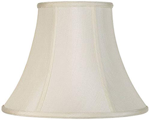Creme Bell Lamp Shade Traditional Fabric Harp Included 7x14x11 (Spider) - Imperial Shade