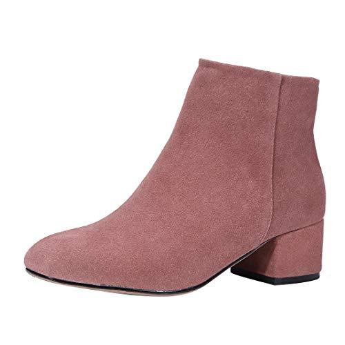 Blocco Blocco Toabili Stivali Rosa a Donna MAYPIE Cerniera Cerniera Cerniera Leather Tacco 7FF1qa