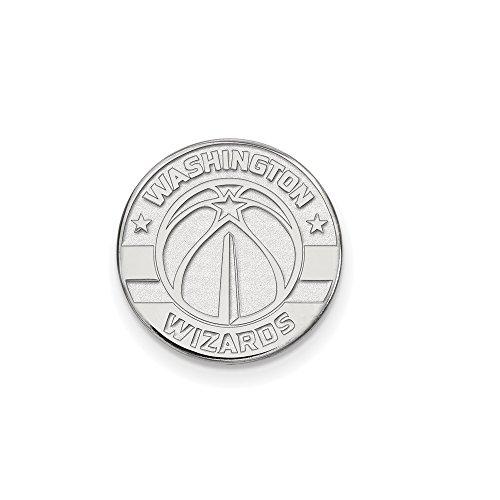 NBA Washington Wizards Lapel Pin in 14K White Gold by LogoArt