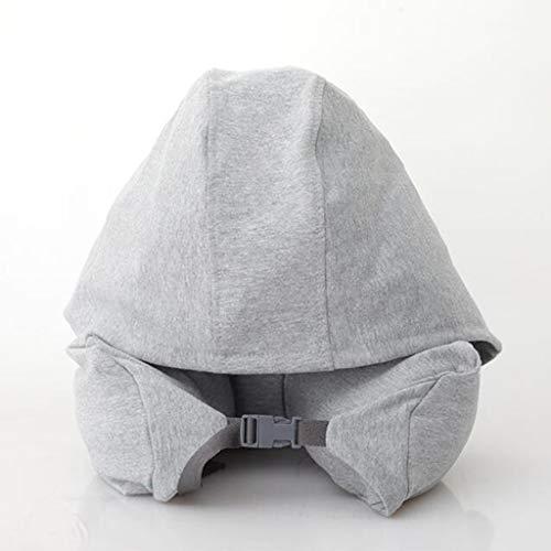 378 5000 Reisekissen Auto Kopfstütze Kissen Nackenstütze U-förmiges Design Tragen Sie einen Hut Siesta Reisen Sie ultrafeine Partikel Büro Schlaf Urlaub Geschenke (grau blau), blau (Farbe   grau)
