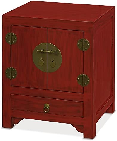 China Furniture Online Elmwood Chinese Night Stand Cabinet