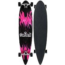 Krown Purple Flame Complete Longboard Skateboard(KRPT-12)